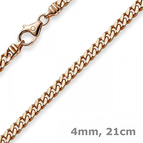 Emall supply bracelet à mailles 4 mm en or 585 or 21 oLD pour femme
