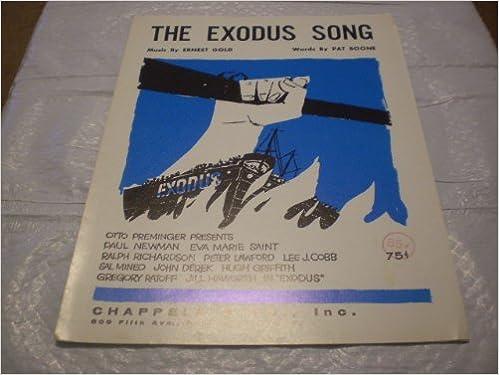 THE EXODUS SONG ERNEST GOLD 1961 SHEET MUSIC FOLDER 537: THE