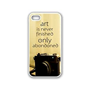 Art Is Never Finished Only Abondoned Hipster Quote White iPhone 5 & 5S Case - Fits iPhone 5 & 5S