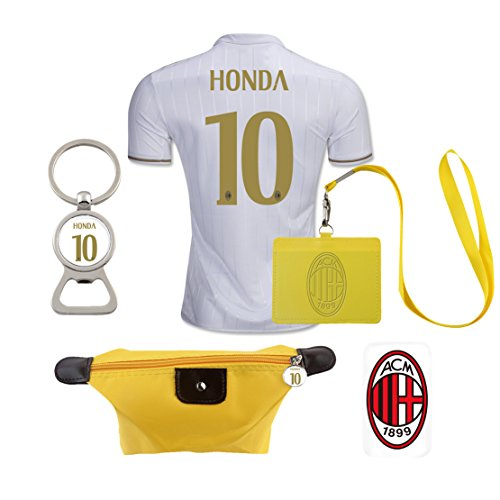 #10 Honda (6 in 1 Combo) A.C. Milan Away Match Adult Soccer Jersey 2016-17