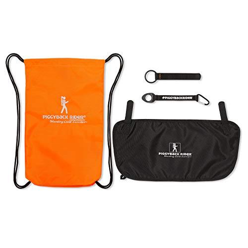Piggyback Rider ACCESSORY PACK #3 (Orange) Carry Bag, Water Bottle Holder, Mud Flap, Selfie Stick Holder ()