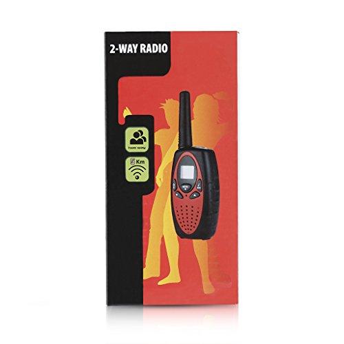 FLOUREON 4 Packs Walkie Talkies Two Way Radios 22 Channel 3000M (MAX 5000M open field) UHF Long Range Handheld Talkies Talky (Red) by floureon (Image #8)