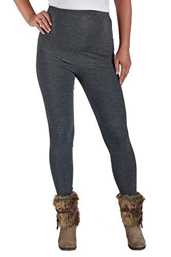 Jandaz® - Leggings de invierno para premamá, algodón, varios colores Winter Thick Dark Grey