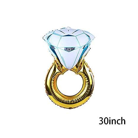 calistouk diamante anillo globos boda papel de aluminio globo inflable regalo cumpleaños fiesta decoración: Amazon.es: Hogar