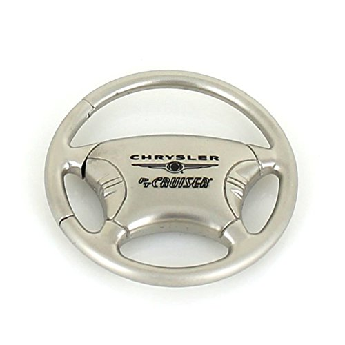 (Chrysler PT Cruiser Steering Wheel Chrome Keychain)