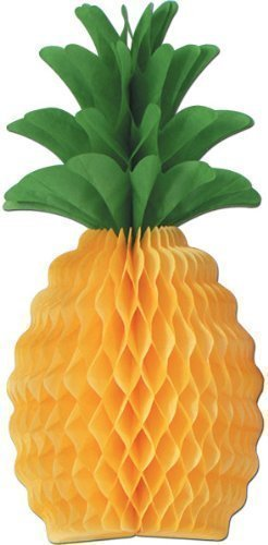 Luau Tissue Pineapple - 12'' [36 Pieces] - Product Description - Set Up This 12'' Tissue Pineapple To Make A Tropical Looking Centerpiece The Focal Point Of Your Luau Party. It Is Free-Standing And Made Of Yellow And Green Honeycomb Tissue Paper. ... by BIMS