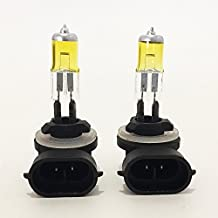ICBEAMER 881 862 886 889 894 896 898 12V 27W Direct Replacement For Car Halogen Light Bulbs For Auto Vehicle [Color: Yellow]