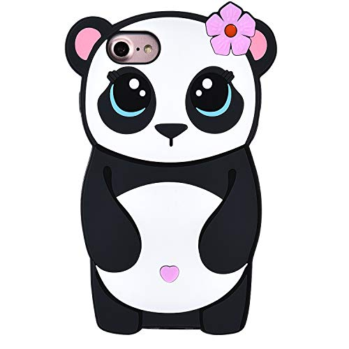 TopSZ Flower Panda Case for iPhone 8 Plus/7 Plus/6 6S Plus 5.5
