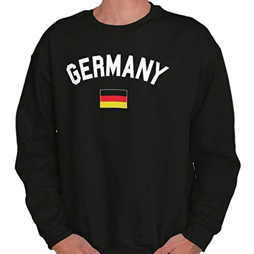 Brisco Brands Germany Country Flag Soccer Fan Pride Gift Crewneck Sweatshirt Black