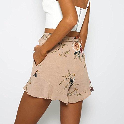 Donne Luoluoluo Sciolto Alta Pantaloni Donna Shorts Gonna Pantaloncini a con Stampa Vita Corti Cintura Sexy Design A Donna Estivi Tropicale ArvAq
