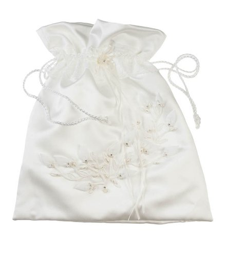 Collection Wedding Money Bag - Darice VL2030-29 Baby Rose Collection Money Bag, Cream