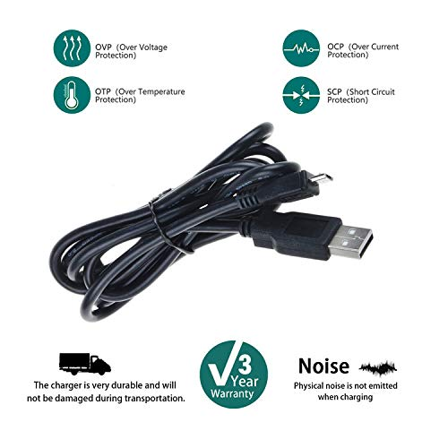 SLLEA USB Charging Cable PC Laptop DC Charger Power Cord for Craig Electronics Inc CMA3558 CMA3581 CMA3576 Portable Stereo Bluetooth Speaker Wireless Technology System