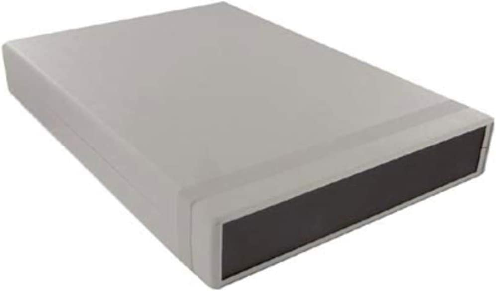 Pack of 2 Enclosure; Clamshell; Desktop; Polystyrene; Gray; 9.84x6.3x3 in; IP54; 1598 Series