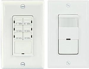 topgreener bathroom fan timer switch and light sensor. Black Bedroom Furniture Sets. Home Design Ideas
