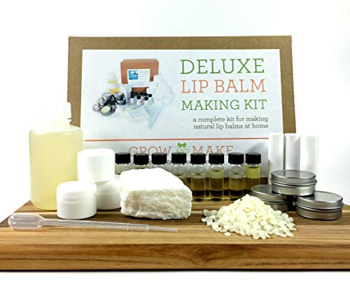 (Grow and Make DIY Deluxe Lip Balm Kit - Make 36 of Your Own Lip Balms at Home with Popular and Exotic)