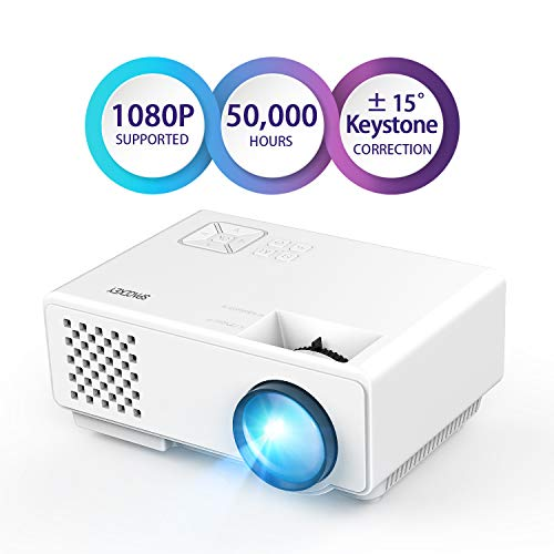 Projector, Spacekey LED Mini Video Projector for Multimedia Home Theater, Supports 1080P, Laptops, Smartphones, Amazon Fire TV Stick & DVDs via HDMI, USB, VGA & AV (RD815)