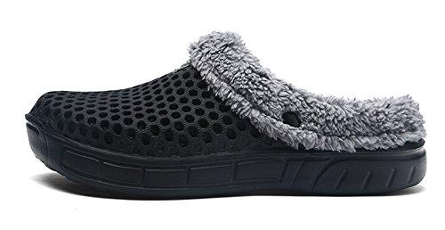 Piscina Sanitari E Uomo Zoccoli Estive Invernali Donna Pantofole Ciabatte Caldo Da Clapzovr Nero qxpnvU8t