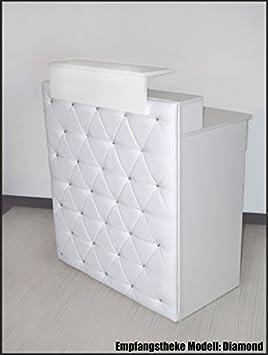 """Design Empfangstheke Modell:""""Diamond White"""" WEISS 100cm - Theke mit Strasssteinen-Tresen-Empfang-Count: Amazon.de: Bürobedarf & Schreibwaren -"""