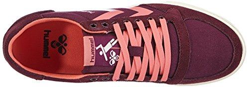 hummel HUMMEL SL STADIL PASTELS LO - zapatilla deportiva de lona mujer Violeta - Violett (Grape Wine 3506)