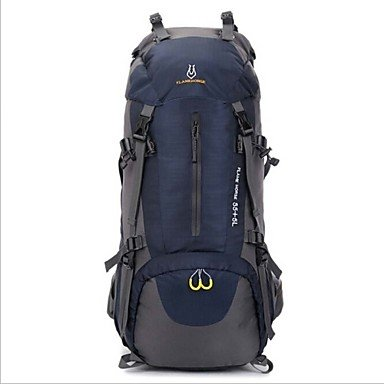 ZHUDJ Grande Capacità Esterna Impermeabile Sport Campeggio Escursionismo Zaino Da Trekking,Blu Navy