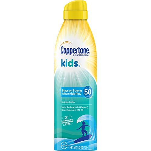 - Coppertone KIDS Sunscreen Continuous Spray SPF 50 (5.5 Ounce) (Packaging may vary)