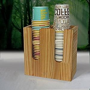 airgoesin vaso de papel Taza de café y tapa soporte organizador de dispensador de bebida café tienda pantalla del contador: Amazon.es: Hogar