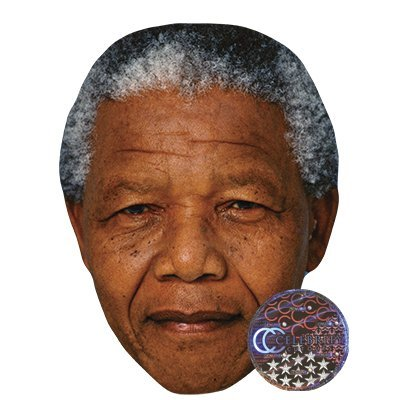 Mandela Photo Nelson (Nelson Mandela Celebrity Mask, Card Face and Fancy Dress Mask)