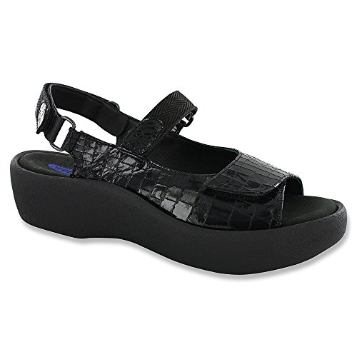 Wolky Komfort Sandaler Juvel Croco Svart