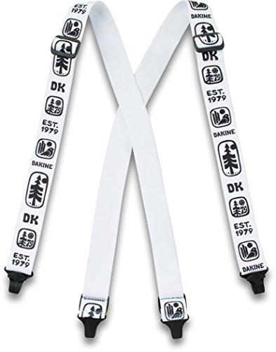 DAKINE Mens Hold'em Suspenders (One Size - White) - Dakine Mens Belt