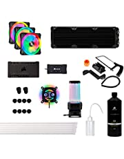 Corsair Hydro X Series XH305i Hardline Water Cooling Kit with/incl XC7 CPU Water Block, XR5 360mm Radiator, XD5 Pump Res and iCUE QL120 RGB Fans, CX-9070005-WW