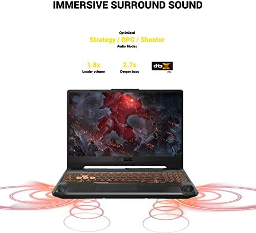 "ASUS TUF TUF506IU-ES74 Gaming A15 Gaming Laptop, 15.6"" 144Hz Full HD IPS-Type, AMD Ryzen 7 4800H, GeForce GTX 1660 Ti, 16GB DDR4, 512GB PCIe SSD, 90WHr Battery, RGB Backlit KB, Windows 10 Home"