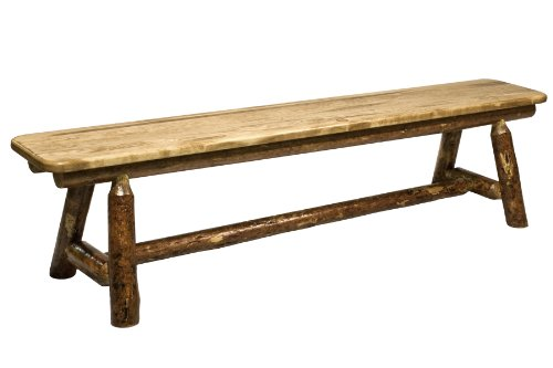 Montana Woodworks MWGCPSB6 Glacier Country Collection Plank Style Bench, 6-Feet