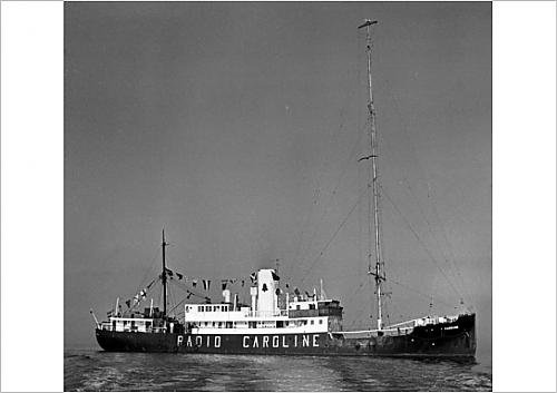 Media Storehouse A1 Poster of Radio Caroline North - off Ramsey, Isle of Man (11559574)