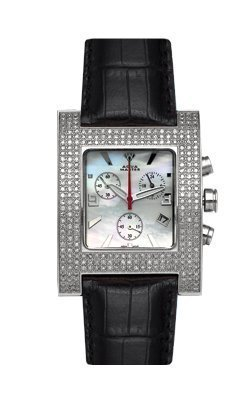 Aqua Master Unisex Square Diamond Watch, 2.75 ctw by Aqua Master