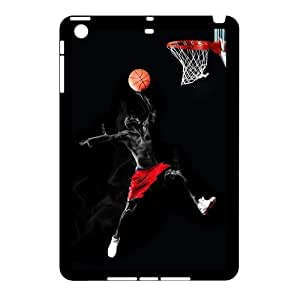 iPad Mini (iPad mini 2) Case,Flying Black Basketball Player Basketball Stands High Definition Unique Design Cover With Hign Quality Hard Plastic Protection Case