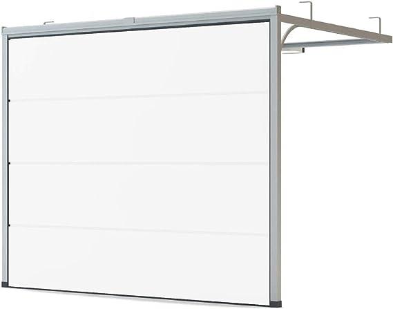 Puerta de garaje de color blanco RAL 9016, tamaño 2500 mm x 2125 ...