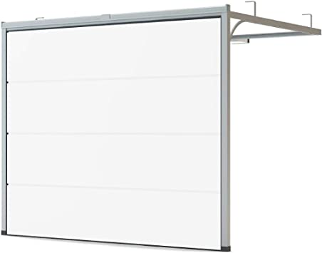 Puerta de garaje de color blanco RAL 9016, tamaño 2500 mm x 2125 mm: Amazon.es: Bricolaje y herramientas