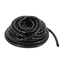DealMux 10mm Dia 8M Length Cable Wire Tidy Wrap Spiral Wrapping Band Organizer Black