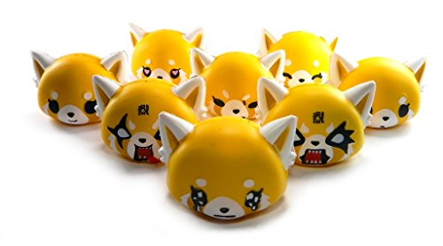 Aggretsuko Squishme Squishy Toys COMPLETE SET OF 8