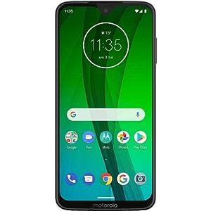 Motorola Moto G7 (64GB, 4GB RAM) Dual SIM 6.2″ 4G LTE (GSM Only) Factory Unlocked Smartphone International Model XT1962-4 No Warranty (Clear White)