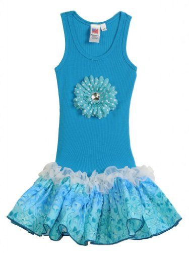 Dress Ombre Bubble (Bubblegum Divas Little Girls' Ombre Drop Waist Tank Dress [Apparel])