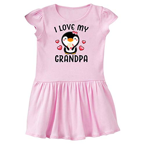 inktastic - I Love My Grandpa with Cute Toddler Dress 4T Ballerina Pink 342eb