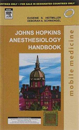 John Hopkins Anesthesiology Handbook 1st Edition