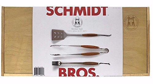 - Schmidt Brothers 3 piece BBQ Tool Set - in Wooden Gift Box