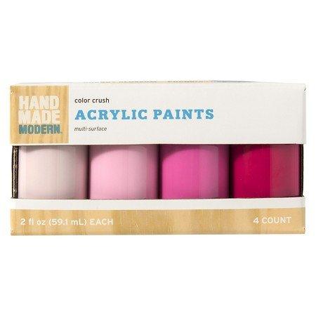Hand Made Modern - 2oz Satin Acrylic Paint Set - Color Crush