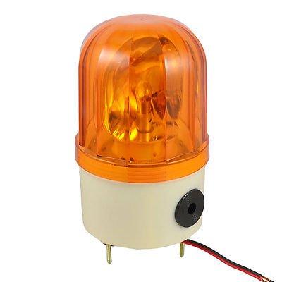 MAO YEYE DC 24V 10W Industrial Yellow Rotary Light Warning Lamp w Buzzer Siren XWJ
