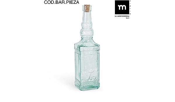 Botella vidrio cuadrada 720cc c/tapón himark: Amazon.es: Salud y cuidado personal