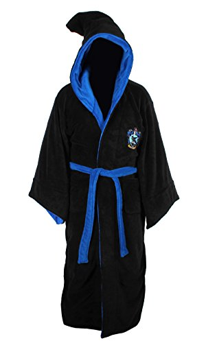 Harry Potter Ravenclaw Adult Fleece Hooded Bathrobe (One (Ravenclaw Quidditch Robes)