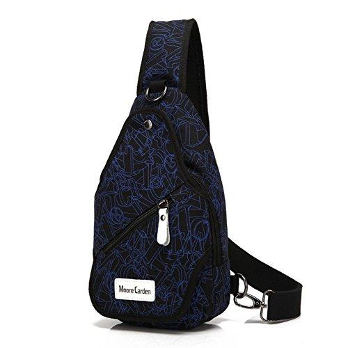 bolsa de lona Varonil pecho/Diagonal casual individual masculino hombro pecho Pack/ mochilas Ola coreana lona hombres-G G