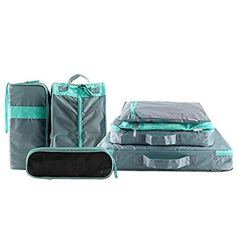 12865ea25904 Amazon.com | Travel Packing Cubes, Womdee Luggage Organizer Pouch ...